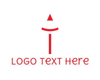 Pen - Red Pencil logo design