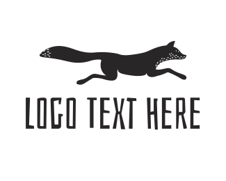 Black And White - Black Fox logo design