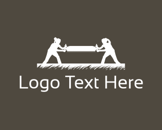 Lumberjack - Wood Saw logo design