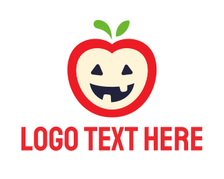 Pumpkin - Halloween Apple logo design
