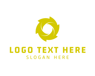 Hurricane - Green Spiral logo design