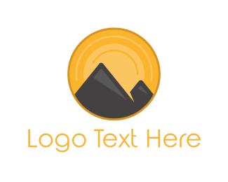 Sunset - Sunset Volcano logo design