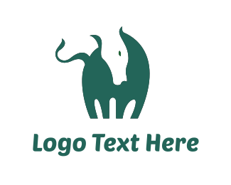 Cattle - Green Horse logo design
