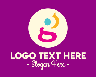 Text - Abstract Letter G logo design