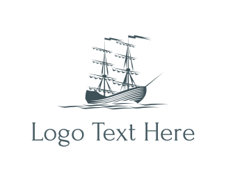 Navy - Ocean & Sailboat logo design