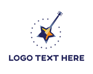Guitar - Star Guitar logo design