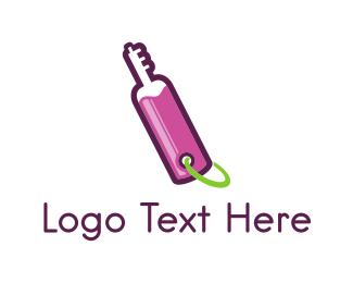 Bottle - Key Bottle logo design