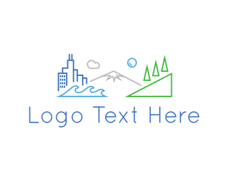 Village - City Outlines logo design