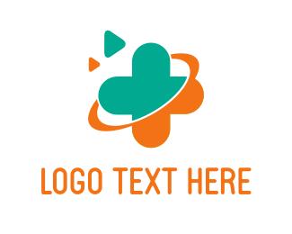 Hospital - Orange Cross logo design