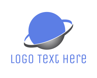 Outer Space - Purple Planet logo design