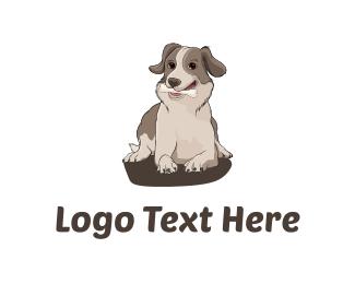 Furry - Dog with Bone logo design