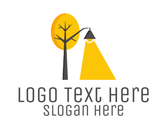 Lighting - Landscape Lamp logo design
