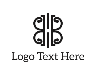 Uk - Abstract B&W Shape logo design