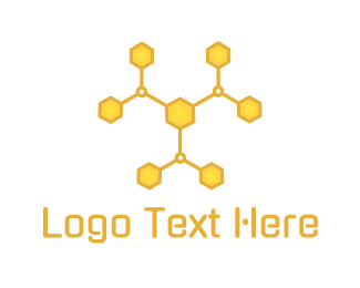 Molecule - Molecular Hive logo design