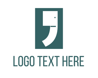Trunk - Elephant Comma logo design