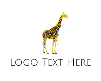 Graffiti - Painted Giraffe logo design