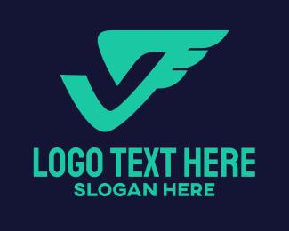 Sportswear - Aviation Letter V logo design