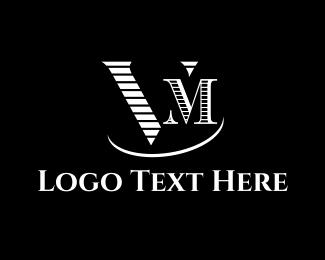 Jazz Club - Elegant V & M logo design