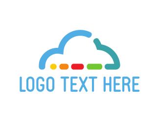 Clouding - Colorful Cloud logo design