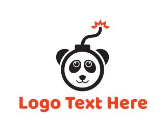 Bomb - Explosive Panda logo design