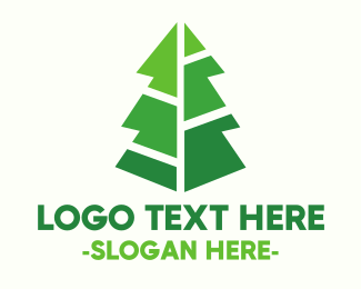 Figure - Modern Christmas Tree logo design