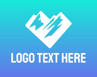 Everest - Love Mountain logo design