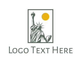 Big Apple - Liberty Sun logo design