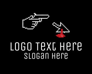 Video Game - Pixel Murder logo design