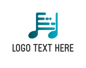 Musical - Digi Music logo design