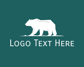 Cold - Big White Polar Bear logo design