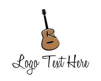Guitarist - Guitar Letter R logo design