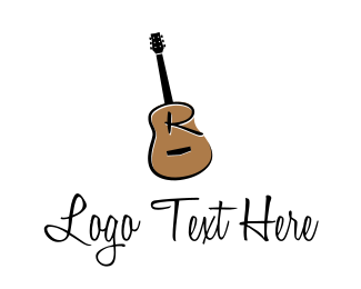 Guitar - Guitar Letter R logo design