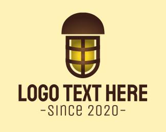 Lantern - Outdoor Yellow Lamp logo design