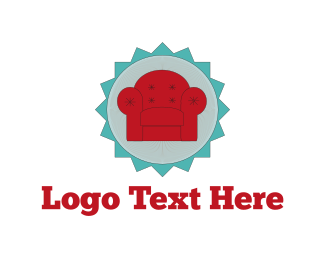 Living Room - Red Armchair logo design