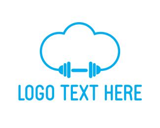 Gymnasium - Cloud Gym logo design