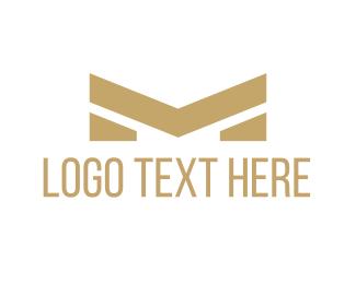 Golden - Golden Letter M logo design