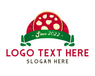 Mozzarella - Margherita Cheese Pizza logo design