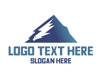 Hiking - Eagle Mountain  logo design
