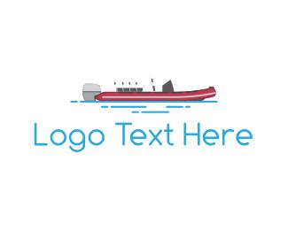 Yacht - Speedboat logo design
