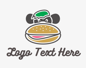 Diner - Monkey Burger logo design