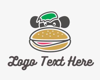 Roll - Monkey Burger logo design