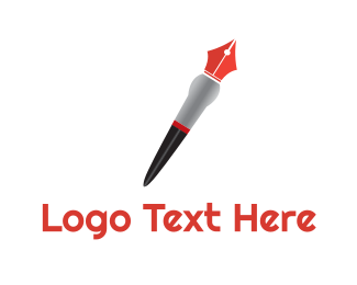 Artist - Artistic Red Pen logo design
