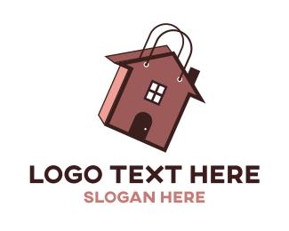 Loan - Home Bag logo design