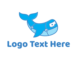 Big - Blue Whale logo design