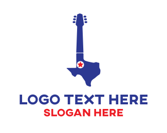 Dallas - Texas Guitar logo design