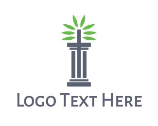 Pillar - Pillar Leaves logo design