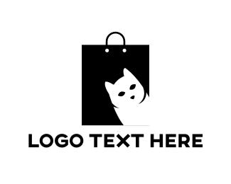 Bag - Cat Bag logo design