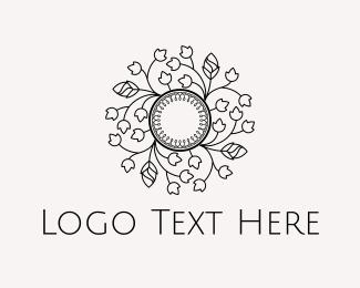 Branch - Floral Circle logo design