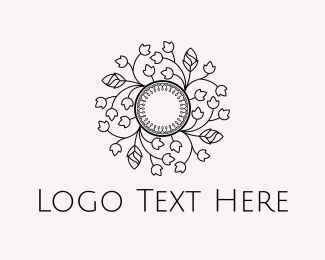 Deli - Floral Circle logo design