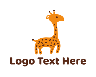 Domestic - Baby Giraffe logo design